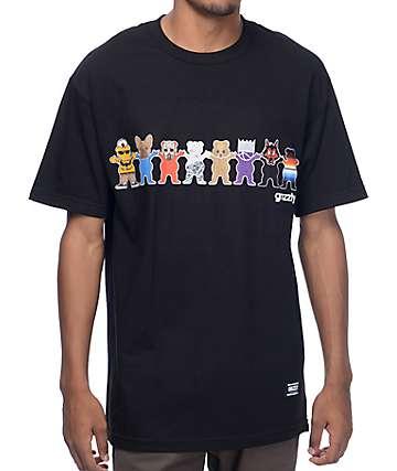 Grizzly Squad Goals camiseta negra