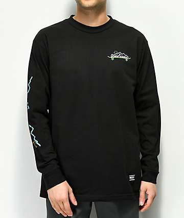 Grizzly Stay Lit Black Long Sleeve T-Shirt