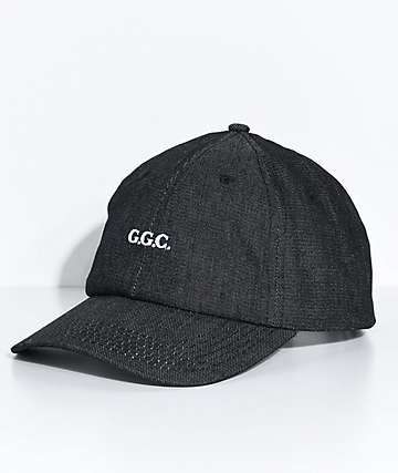 Grizzly Stone River Black Denim Strapback Hat