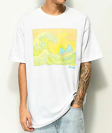Grizzly Wavey White T-Shirt
