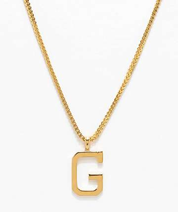 "Grizzly X The Gold Gods G 26"" Gold Chain Necklace"