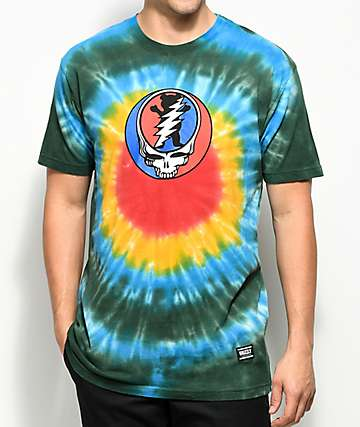 Grizzly x Grateful Dead Grizzly Dead Tie Dye T-Shirt