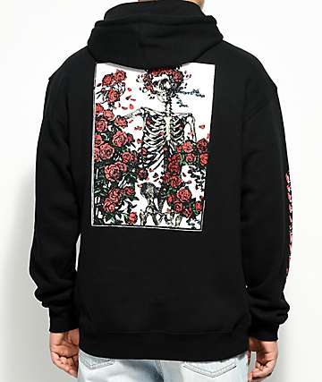 Grizzly x Grateful Dead Skull & Roses Black Hoodie