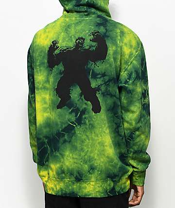 Grizzly x Marvel Hulk Electric Tie Dye Hoodie
