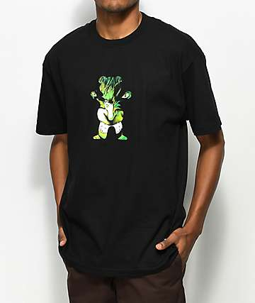 Grizzly x Marvel Hulk camiseta negra