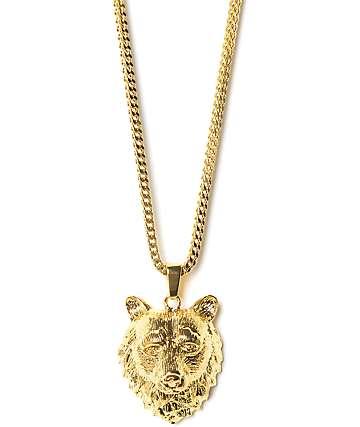 Grizzly x The Gold Gods Bear collar dorado
