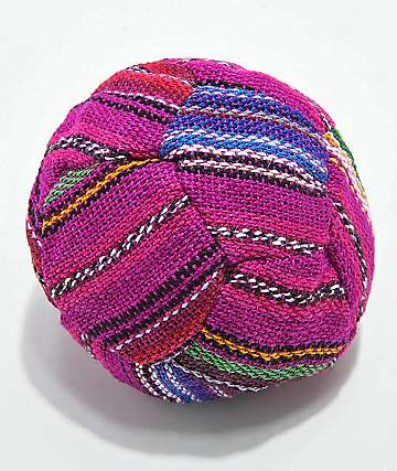 Guatamalart Multicolored Pink Hacky Sack