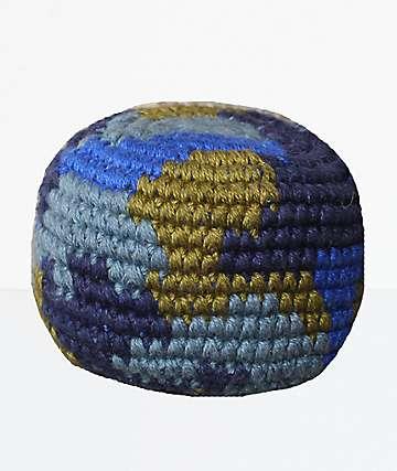 Guatemalart Blue Camo Hacky Sack
