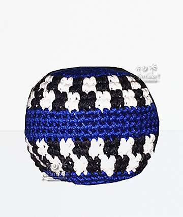 Guatemalart Blue Mini Checker Hacky Sack