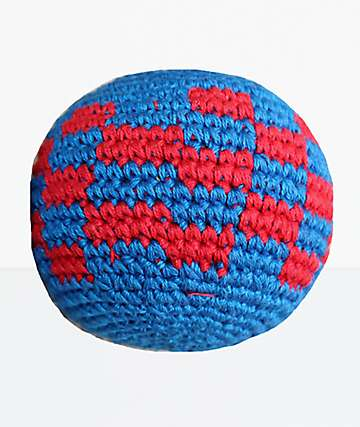 Guatemalart Checker Blue & Red Hacky Sack