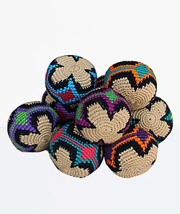 Guatemalart Multicolor Flower Hacky Sack