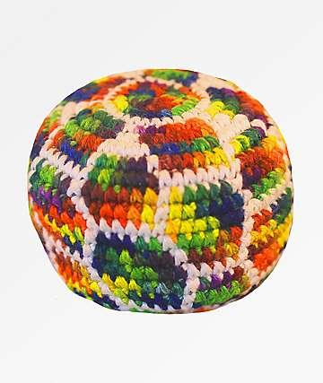 Guatemalart Rainbow Beehive Hacky Sack