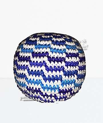Guatemalart Wavy Blue Hacky Sack
