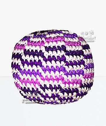 Guatemalart Wavy Purple Hacky Sack