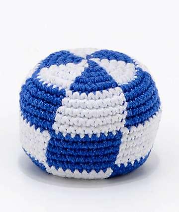 Guatemalart hacky sack a cuadros azules y blancos