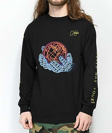 H33M Vice World Black Long Sleeve T-Shirt