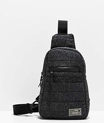 HEX Reflective Black Crossbody Shoulder Bag