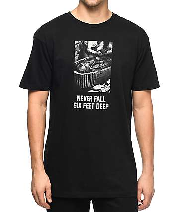 HSTRY Never Fall Black T-Shirt