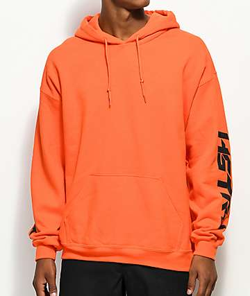 HSTRY Writing Orange Hoodie