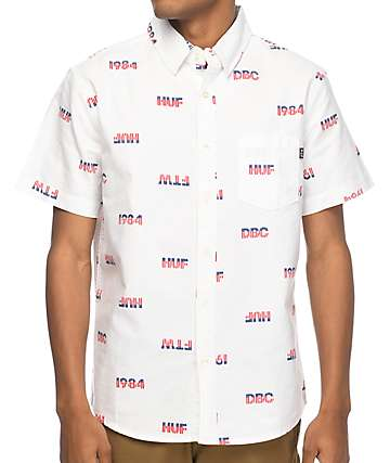HUF 1984 Chambray White Short Sleeve Button Up Shirt