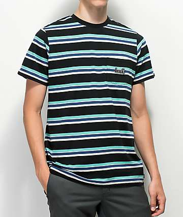 HUF 1993 Black Stripe Knit T-Shirt