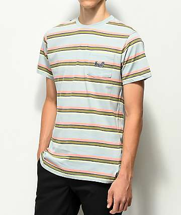 HUF 1993 Blue Stripe Knit T-Shirt