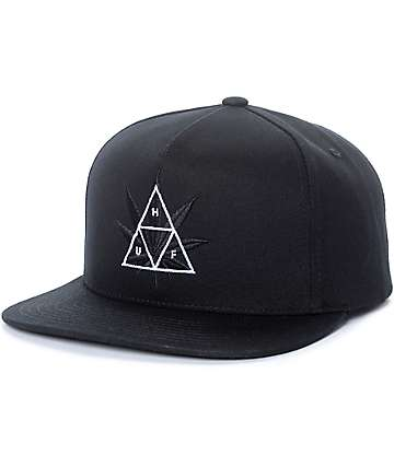 HUF 420 Triple Triangle Black Snapback Hat