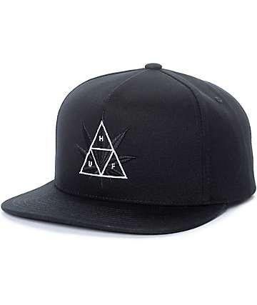HUF 420 Triple Triangle gorra snapback en negro