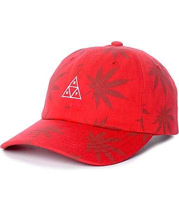 HUF 420 Triple Triangle gorra strapback en rojo