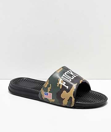 HUF 4th Fuck It Camo Slide Sandals