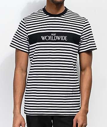 e7aeda55 HUF Archive Black & Grey Striped T-Shirt