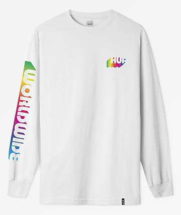HUF Aura White Long Sleeve T-Shirt