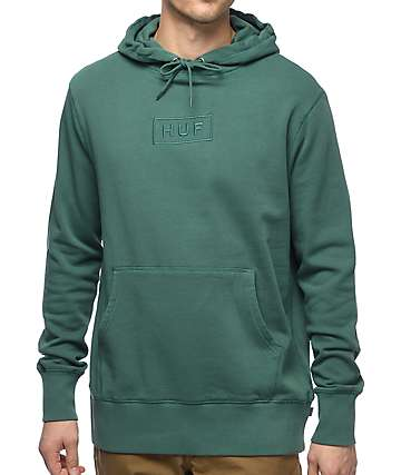 HUF Bar Logo Overdye Dark Teal Hoodie