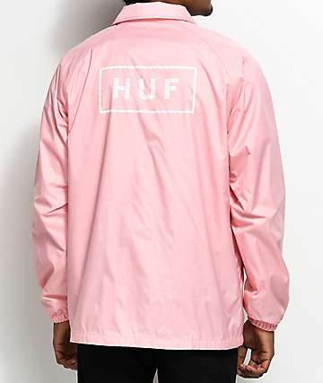 HUF Bar Logo Pink Coaches Jacket