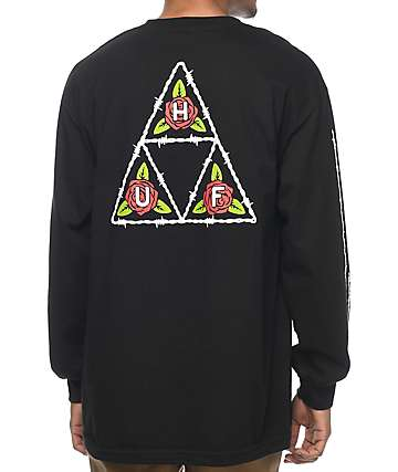 HUF Barb Black Long Sleeve T-Shirt