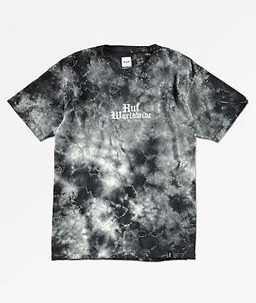 HUF Bird camiseta negra con efecto tie dye para niños