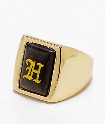 HUF Black Letter Ring