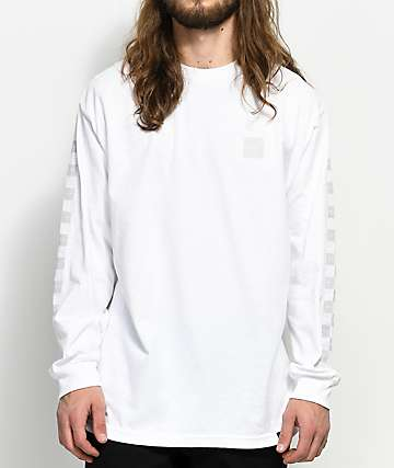 HUF Blackout White Long sleeve T-Shirt