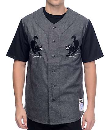 HUF Blackwolf Grey Baseball Jersey