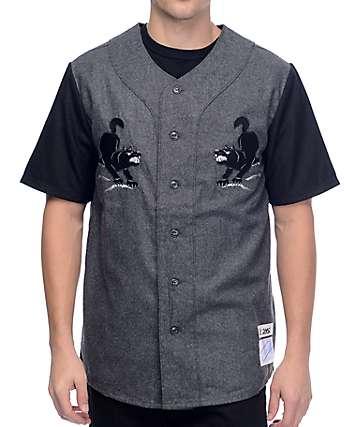 HUF Blackwolf jersey de béisbol en gris