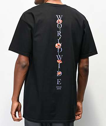 HUF Bloom Black T-Shirt