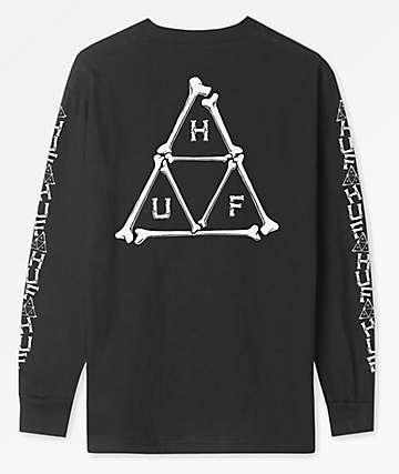 HUF Boner Black Long Sleeve T-Shirt