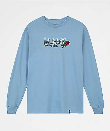 HUF Bones & Roses Blue Long Sleeve T-Shirt