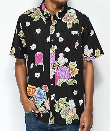 HUF Botanica Black Short Sleeve Button Up Shirt
