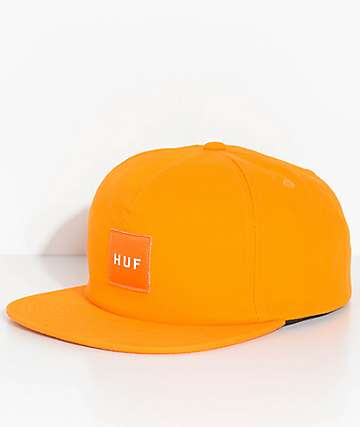 HUF Box Logo Gold Snapback Hat