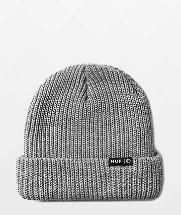 cd30ee60ca11 HUF Box Logo Grey Beanie