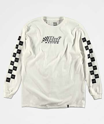 HUF Boys Racing White Long Sleeve T-Shirt