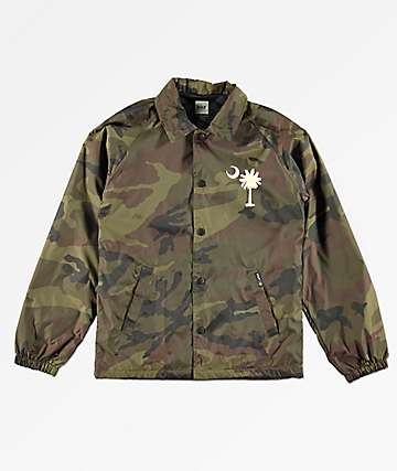 HUF Boys Spirit Camo Coaches Jacket