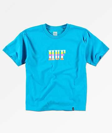 HUF Boys Tourist Turquoise T-Shirt