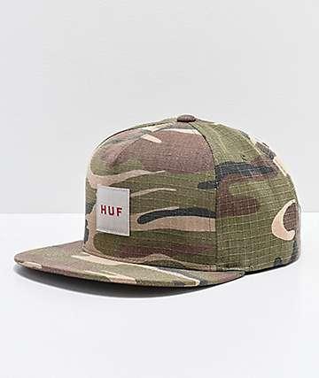 HUF Camo Ripstop Snapback Hat